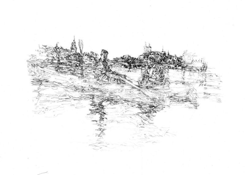 o. T., Bleistift, 40 x 60 cm, Privatbesitz